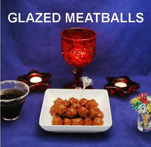 Load image into Gallery viewer, Rio Grande Spicy Ketchup Glazed Meatballs, with espresso martini Christmas