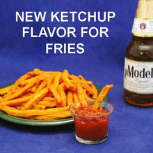 Load image into Gallery viewer, Sweet potato fries with Rio Grande Spicy Ketchup and Mexican beer