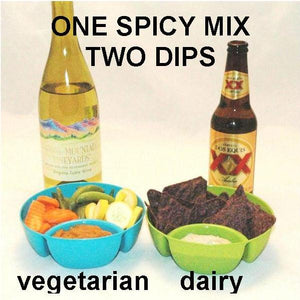 Spicy Rio Grande vegetarian mashed yams dip with white wine, and mayonnaise and sour cream dip with beer Summer