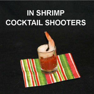 Shrimp Cocktail Shooter with Roasted Garlic Spiced Ketchup cocktail sauce