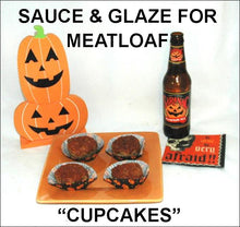 "Load image into Gallery viewer, Roasted Garlic Spiced Ketchup glazed meatloaf ""cupcakes"" and pumpkin ale Hallow"