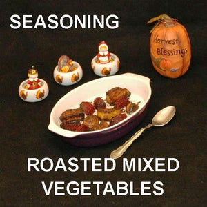 Roasted beets, sweet potatos and mushrooms with Madras seasoning Thanksgiving side