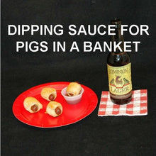Load image into Gallery viewer, Pigs-in-a-Blanket with Roasted Garlic Spiced Ketchup for dipping, served with craft beer Summer
