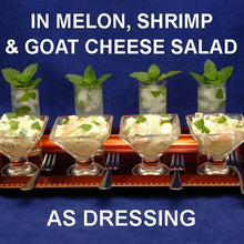 Load image into Gallery viewer, Shrimp & Melon Salad with Spicy Mango Dressing, in tasting martini glasses, served with mini mojitos Fall