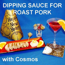 Load image into Gallery viewer, Roasted Pork Loin with Jamaican Orange Diping Sauce, served with Cosmos New Year's