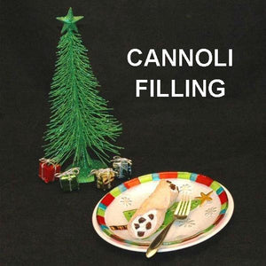 Cannoli filled with Spiked Eggnog Mousse, garnished with Craisin® pieces Christmas