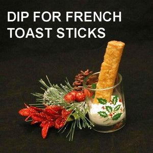 French Toast Sticks with Spiked Eggnog Mousse Dip Christmas