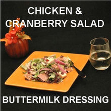 Load image into Gallery viewer, Tossed Chicken Salad with Craisins®, purple onions and Sweet Ginger Cranberry Dressing, served with white wine Fall