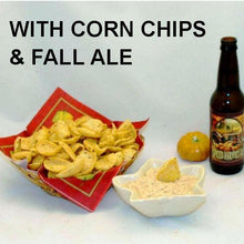 Load image into Gallery viewer, Texas Wildfire Poppy Seed mayonnaise and sour cream chip dip, served with fall ale