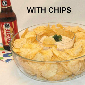 Texas Wildfire Poppy Seed mayonnaise and sour cream dip and potato chips, served with Mexican Beer