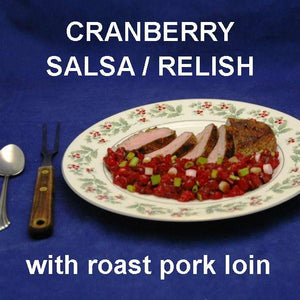 Roasted pork loin with Tortuga Bay Cranberry Salsa Relish