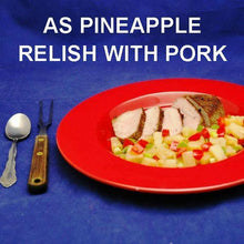 Load image into Gallery viewer, Roasted pork loin with Tortuga Bay Pineapple Mango Salsa Relish