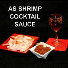 Load image into Gallery viewer, Steamed Shrimp with Tortuga Bay Spiced Ketchup Cocktail Sauce, served with rose wine