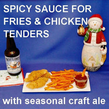 Load image into Gallery viewer, Fries and Tortuga Bay Spiced Ketchup, served with craft ale