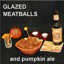 Load image into Gallery viewer, Tortuga Bay Spicy Ketchup Glazed Meatballs, served with pumpkin ale Fall