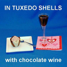 Load image into Gallery viewer, Traditional Orange Chocolate Mousse in Tuxedo shells, served with chocolate wine Valentine's