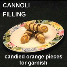 Load image into Gallery viewer, Cannoli filled with Traditional Orange Chocolate Mousse, garnished with candied orange pieces and drizzled with chocolate sauce Summer