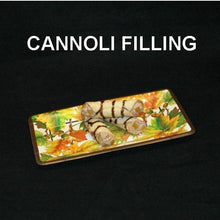 Load image into Gallery viewer, Cannoli filled with Traditional Orange Chocolate Mousse, garnished with candied orange pieces and drizzled with chocolate sauce Fall