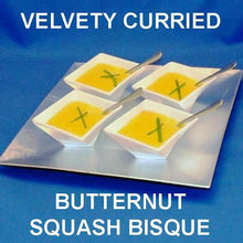 Load image into Gallery viewer, Appetizer servings of Velvety Curried Butternut Bisque