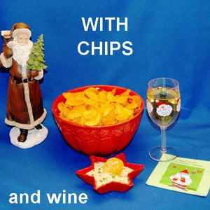 Wasabi Ginger mayonnaise and sour cream chip dip, served with white wine Christmas