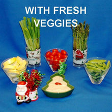 Load image into Gallery viewer, Wasabi Ginger mayonnaise and sour cream dip with fresh veggie dippers Christmas