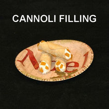Load image into Gallery viewer, Cannoli filled with White Chocolate Amaretto Mousse, garnished with apricot pieces Christmas