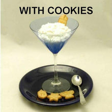 Load image into Gallery viewer, White Chocolate Banana Mousse in martini glass with Hanukkah cookies