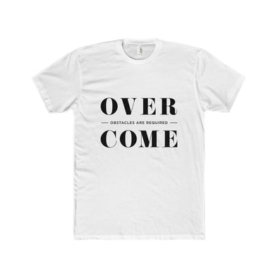 Overcome - Typography T-Shirt - Dark Lettering