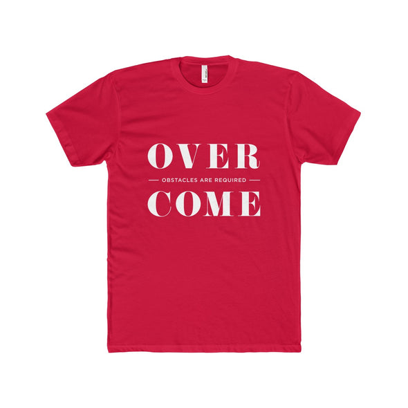 Overcome - Typography T-Shirt - White Lettering