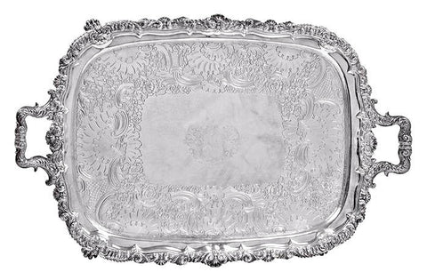 An Armorial Sheffield Plate Tray, Circa 1820