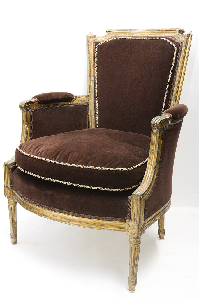 A French Empire Gilt Wood Bergere