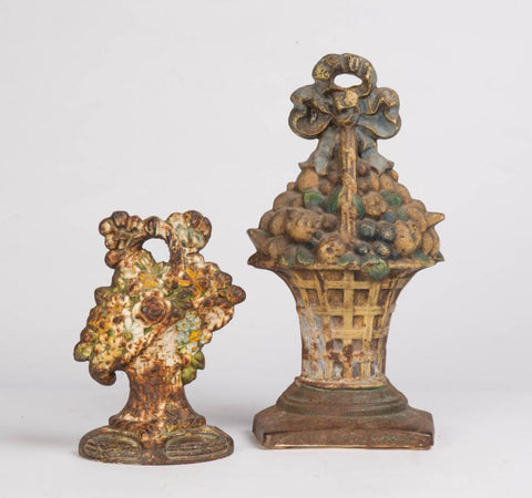A Pair of 19th Century Victorian English Cast Iron Doorstops