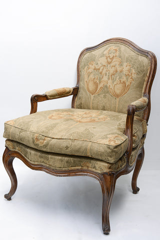 French Commins Style Fauteuil