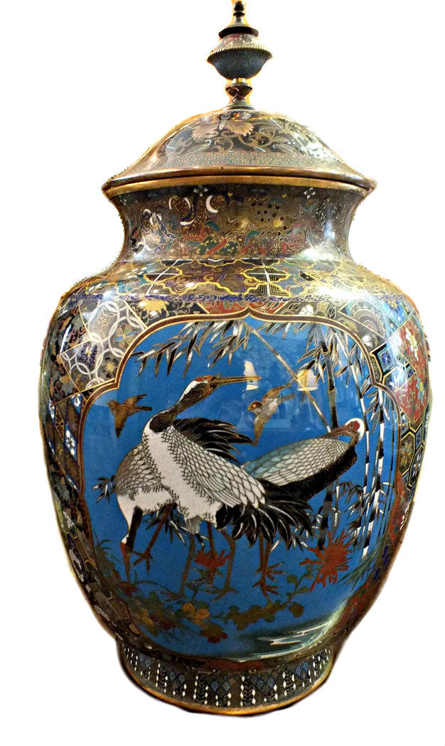 A 19th Century Cloisonne Enamel Lidded Jar