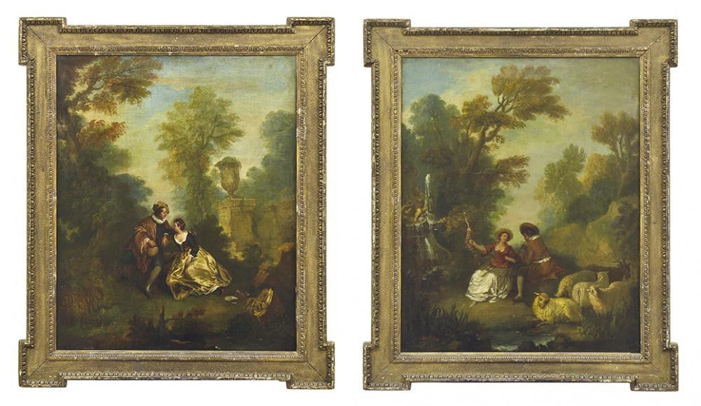 A Pair of 18th Century French School Paintings