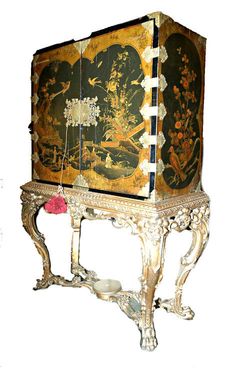 A Chinoiserie Cabinet on Stand