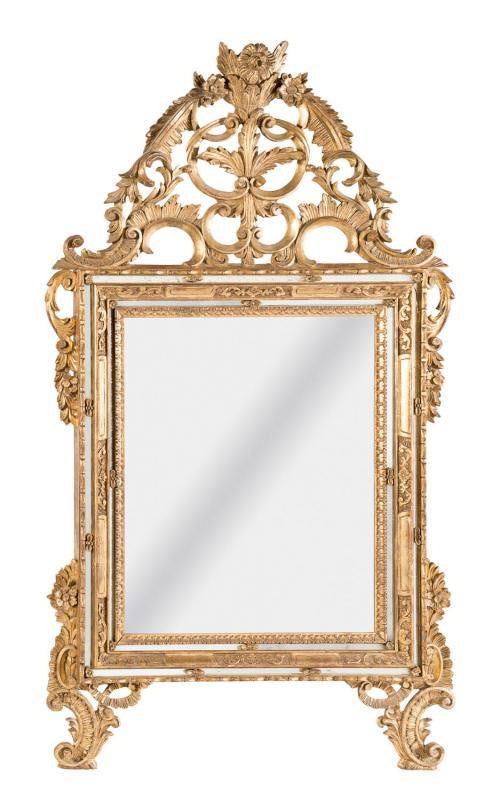 A French Gilt Wood Mirror, 19th Century