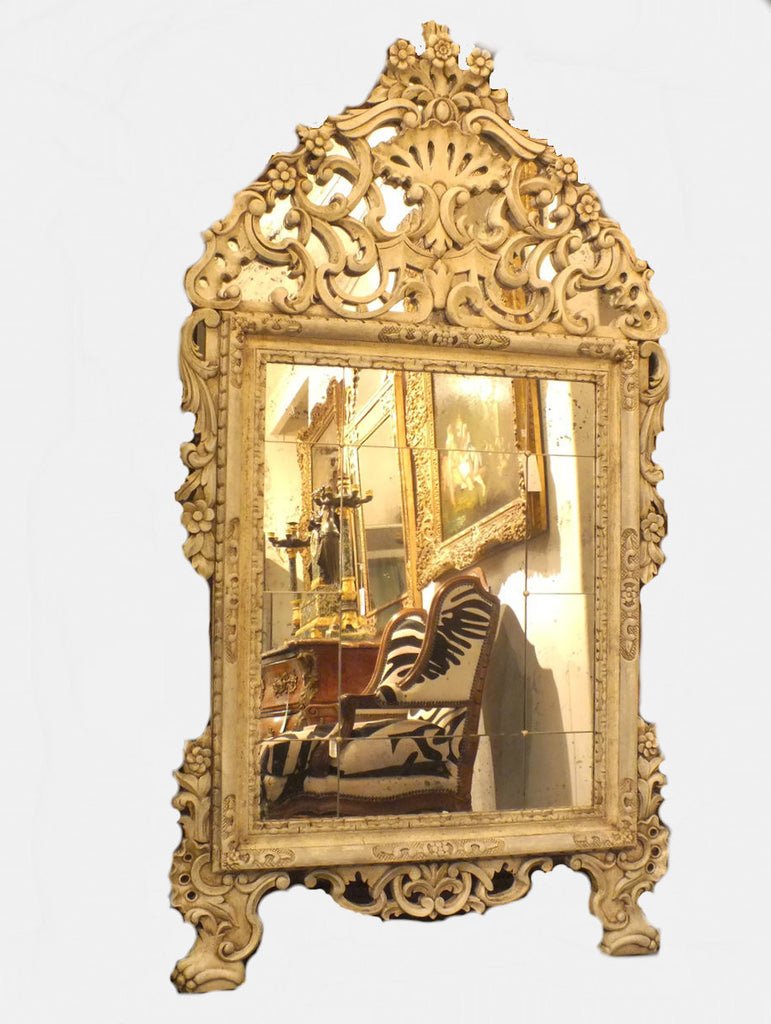 A Pair of Ornately Carved Louis XV Style Mirrors