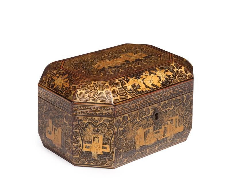 A 19th Century Chinese Lacquered Tea Caddy