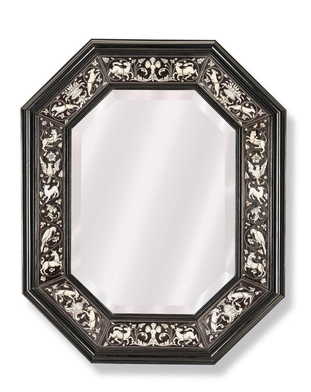 An Early 19th Century Flemish Octagonal Mirror.