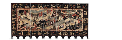 An Early 19th Century Jiaqing Chinese Coromandel Screen
