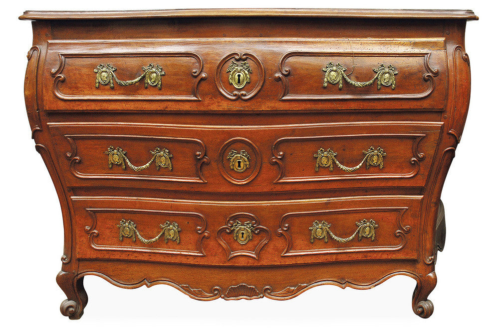 An 18th Century French Walnut Commode