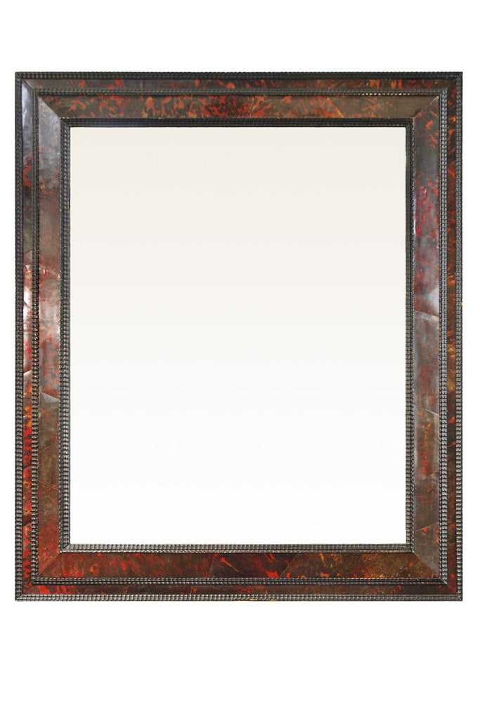 A French 19th Century Tortoiseshell Veneered Wall Mirror