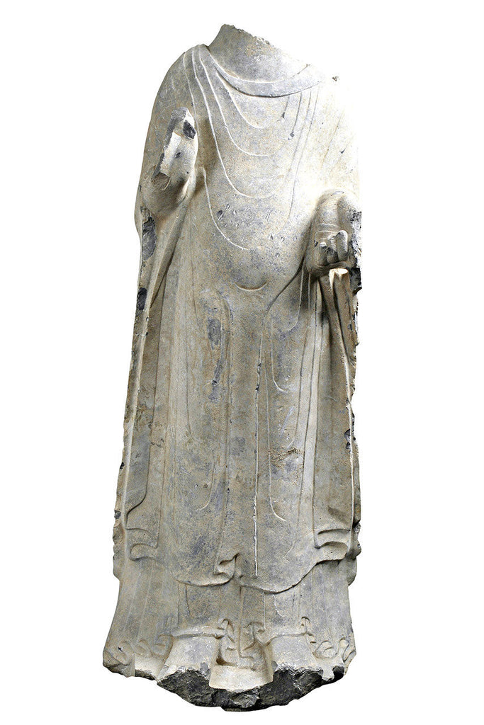 An Important Northern Wei Period Stone Figure of a Preaching Buddha.