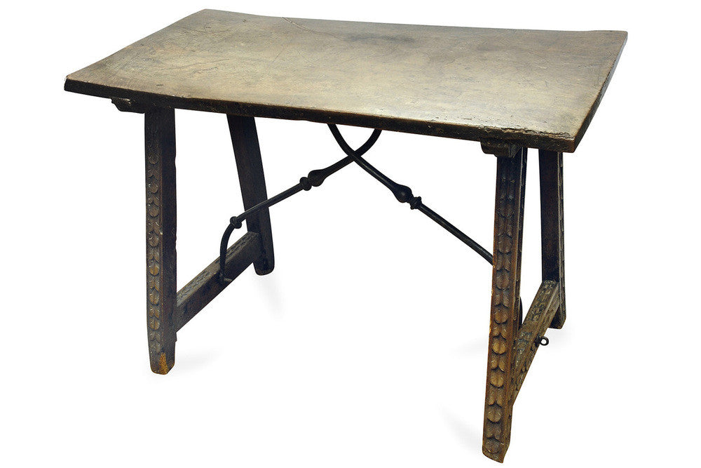 A Charles II Spanish Walnut Side Table, circa 17th Century