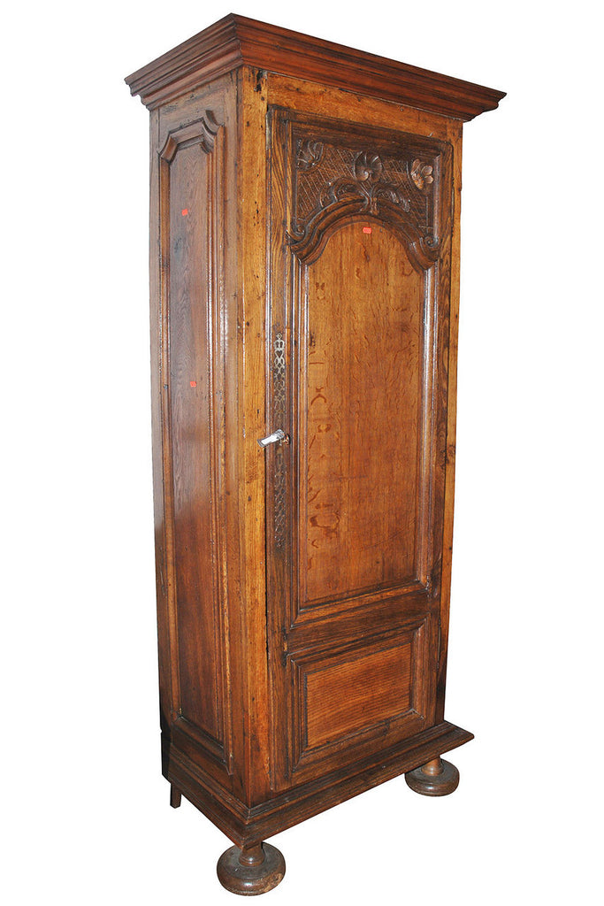 A French Oak Single Door Armoire, Circa 18th Century