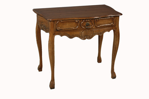 A Louis XV Style Walnut Side Table