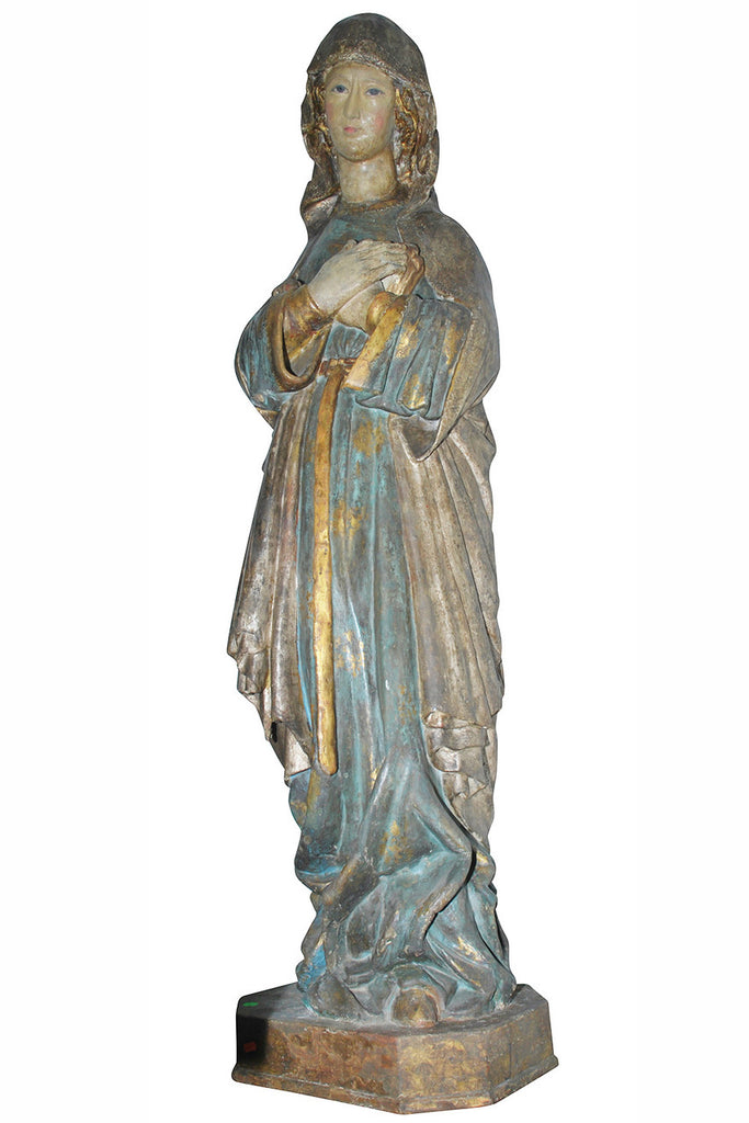 A Large Spanish Carved Polychrome Figure, Circa 18th Century