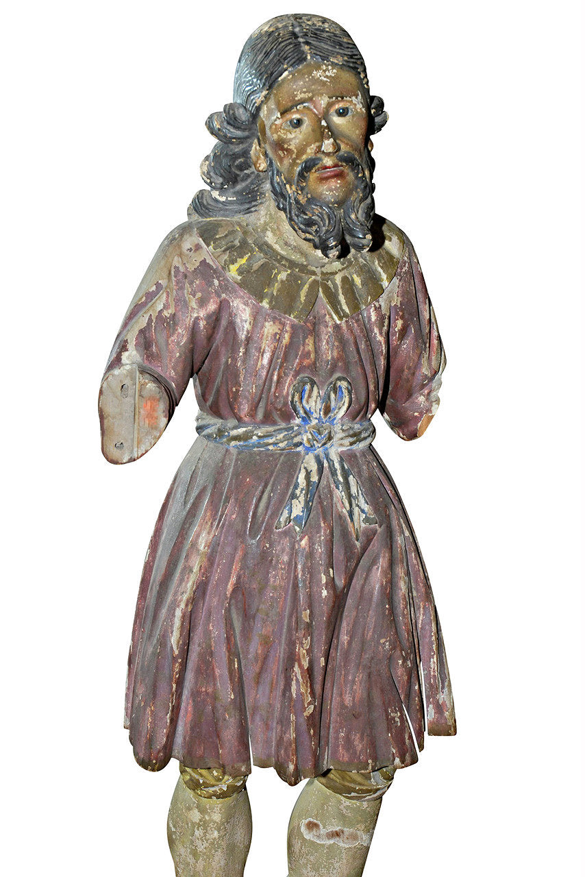 A Carved Timber Spanish Santos Figure, 17th C/ 18th Century