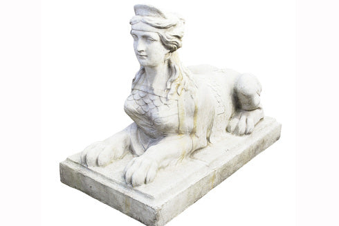 A Stone Composite Figure of a Sphinx